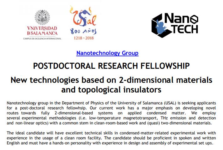 Postdoctoral Research Fellowship